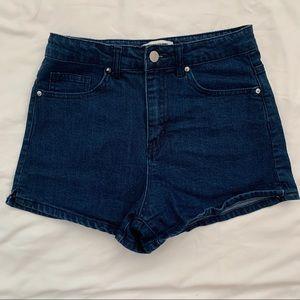 High rise dark denim forever 21 shorts!!